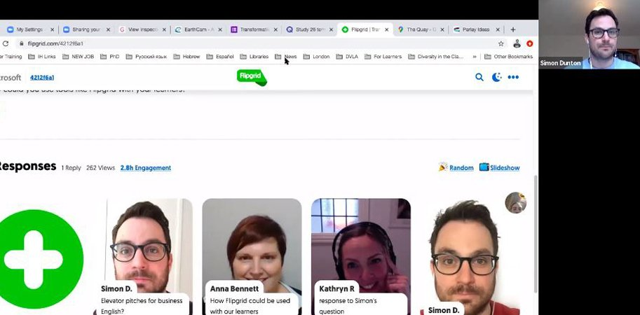 screenshot of webinar and presenter