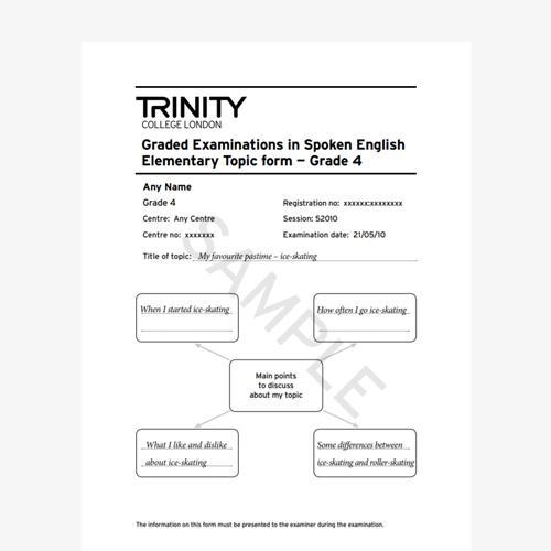 GESE Grade 4 Sample Topic