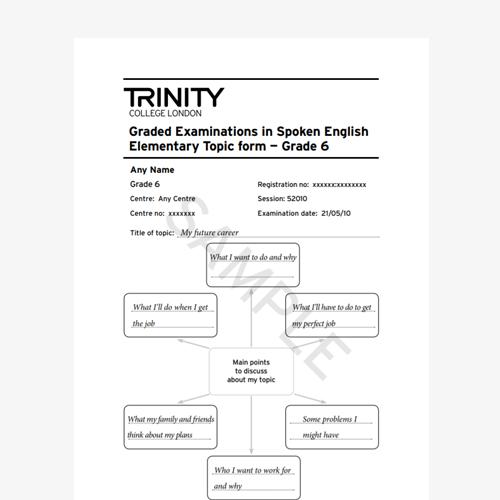 GESE Grade 6 Sample Topic