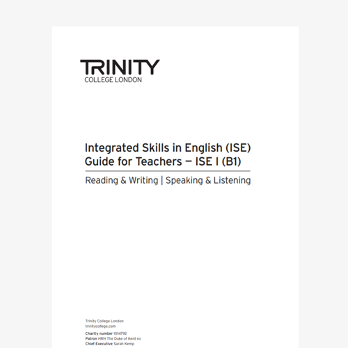 ISE I Guide for Teachers