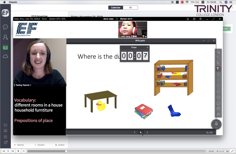 Online Teaching video screenshot